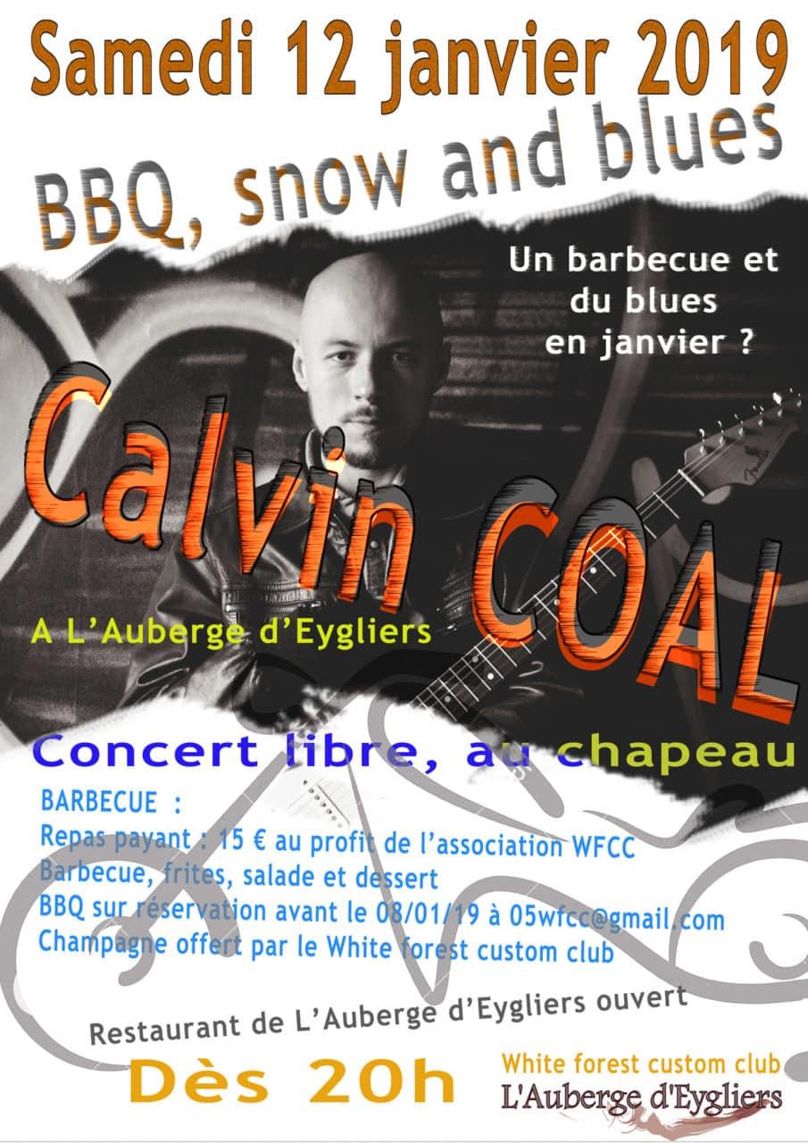 Calvin Coal en concert à l'Auberge d'Eygliers