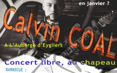 Calvin Coal en concert dans les Hautes Alpes à l'Auberge d'Eygliers
